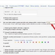 Kako v Gmail-u onemogočiti možnost prejemanja emailov preko uporabe Google+
