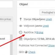 Kako urediti ali izklopiti Različice objav v WordPress-u