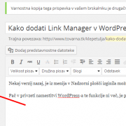 Kako dodati Link Manager v WordPress 3.5+