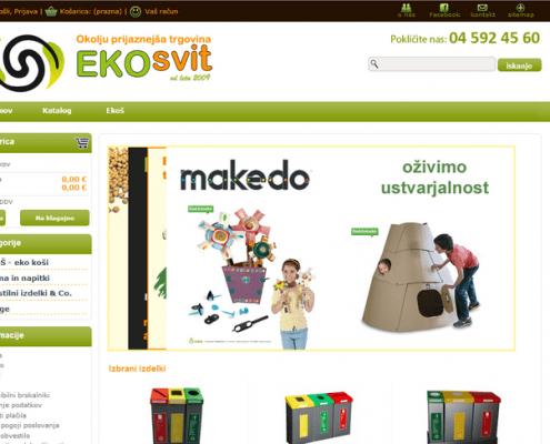 EKOsvit. Spletna trgovina