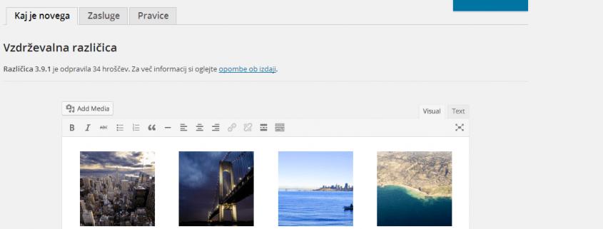 WordPress 3.9 sedaj tudi v slovenščini