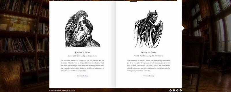 The Novelist: Wordpress predloga za pisce