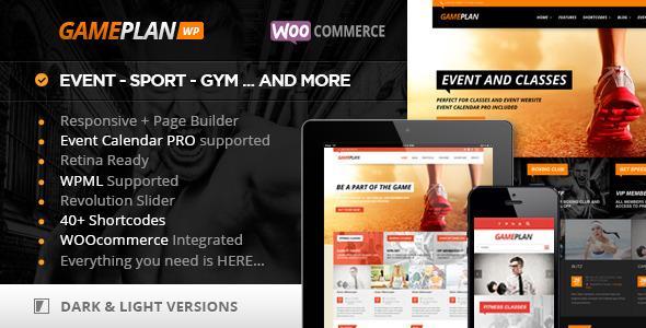 Gameplan - Fitnes Wordpress predloga