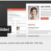 Resume Builder - WordPress vtičnik za enostavno izdelavo CV-ja