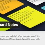 WP Dashboard Notes za hitre zapiske