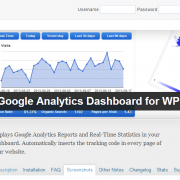 Google Analytics na WordPress nadzorni plošči