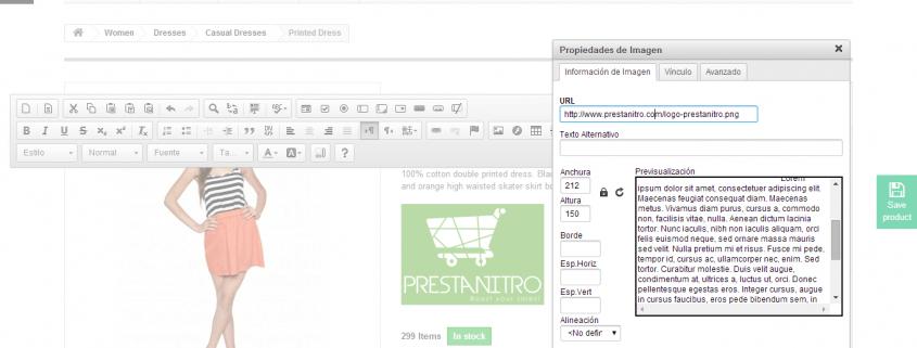 Prestashop Inline Editor