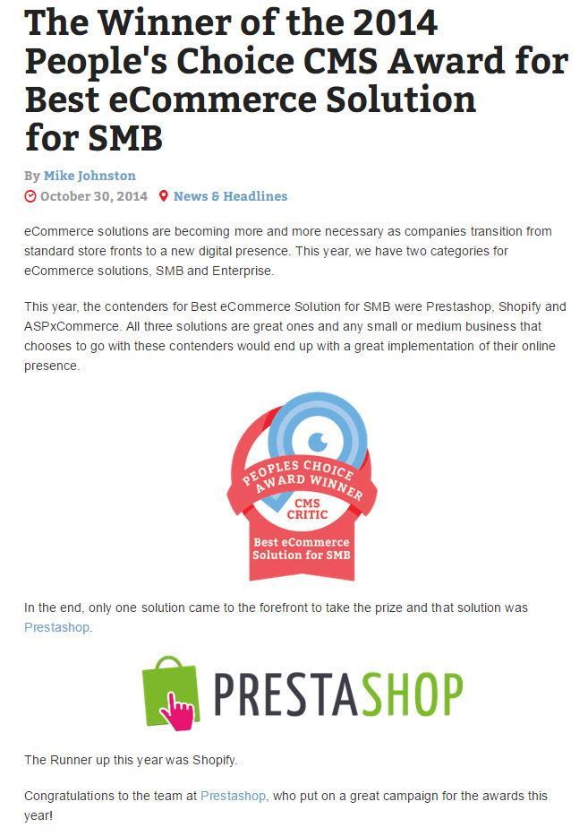 cms critics best ecommerce for smb 2014