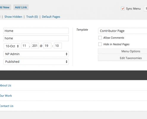 Nested pages, WordPress vtičnik