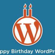 WordPress je dopolnil 13 let