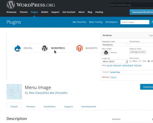 Kako dodati sliko / ikono v Wordpress meni?