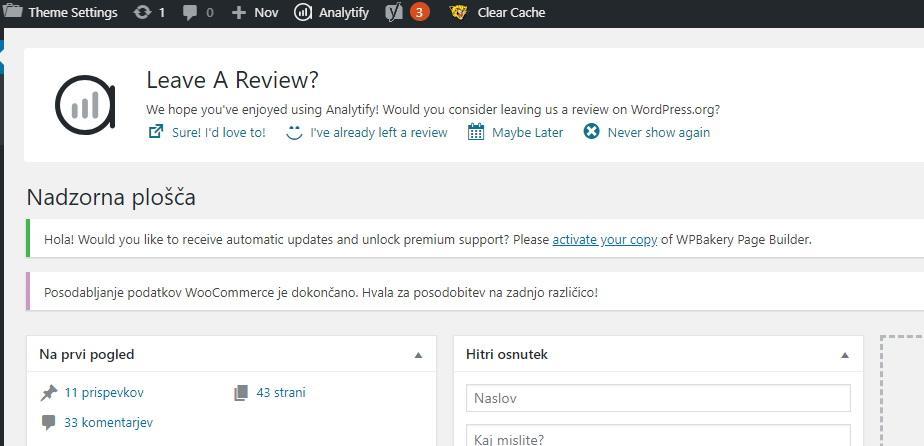 Kako počistiti WordPress nadzorno ploščo