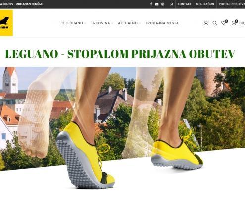 leguano, bosonogi čevlji