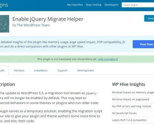 Vam je posodobitev WordPress-a na ver. 5.5 sesula stran?